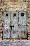 Puertas viejas en Malta Foto de archivo libre de regalías
