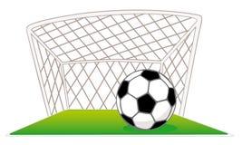 Puertas y balón de fútbol Fotos de archivo libres de regalías