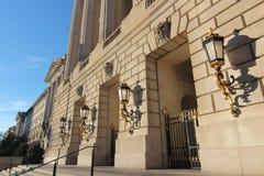 Puertas y linternas doradas en Washington DC Foto de archivo libre de regalías