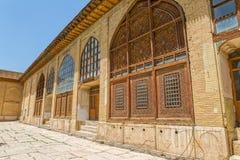 Puertas y ventanas de madera de la ciudadela Imágenes de archivo libres de regalías