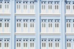 Puertas y ventanas del azul Foto de archivo