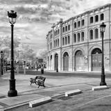 Puerto在红外线的de圣玛丽亚斗牛场  免版税库存图片