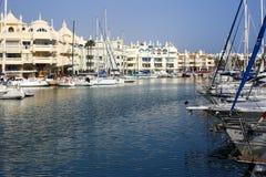 Puerto小游艇船坞Benalmadena西班牙Andalicia 免版税图库摄影
