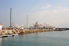 Puerto小游艇船坞Benalmadena西班牙Andalicia 免版税库存图片