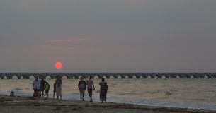 Puerto普罗格雷索海滩,从梅里达的30分钟  库存图片