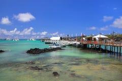 Puerto的阿约鲁小船船坞圣克鲁斯岛的,加拉帕戈斯国家 库存图片