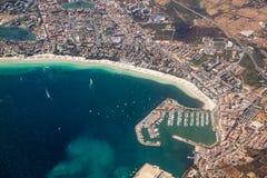 Puerto Alcudia天线 库存照片