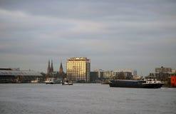 Puerto Amsterdam de la madera Imagen de archivo libre de regalías