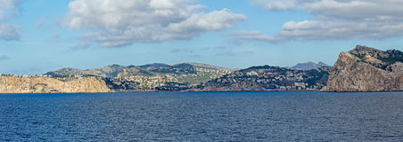 Puerto Andratx panorama royaltyfria foton