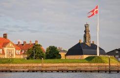 Puerto anterior Nyholm bajo naval en Copenhague, Dinamarca Fotografía de archivo