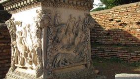 Puerto antiguo de Ostia Antica - de Roma Imágenes de archivo libres de regalías