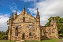 Puerto Arthur Tasmania de la iglesia del convicto Fotografía de archivo libre de regalías