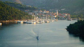 Puerto/bahía de Skradin Fotos de archivo libres de regalías