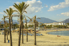 Puerto Banus beach, Marbella, Spain Stock Images