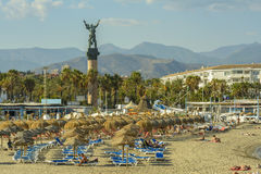 Puerto Banu plaża, Marbella, Hiszpania zdjęcie stock