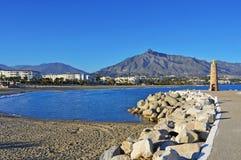 Puerto Banus在Marbella,西班牙 免版税图库摄影