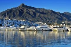 Puerto Banus在Marbella,西班牙 免版税库存照片