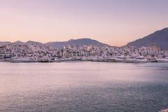 Puerto Banus,西班牙看法  库存照片