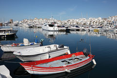 Puerto Banus,马尔韦利亚,西班牙 免版税库存照片