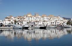 Puerto Banus, Marbella,西班牙 免版税库存照片