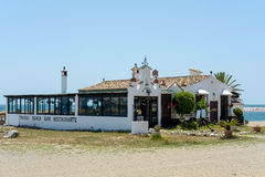 PUERTO BANUS ANDALUCIA/SPAIN - MAY 26 : Beach Restaurant in Puer Royalty Free Stock Photography