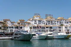 PUERTO BANUS ANDALUCIA/SPAIN - MAY 26 : View of Luxury Yachts in Royalty Free Stock Images