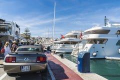 Puerto Banus, Andalusia, Hiszpania Zdjęcia Stock