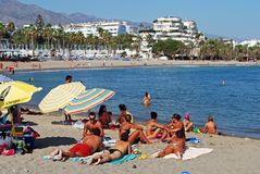 Puerto Banus beach. Royalty Free Stock Photography