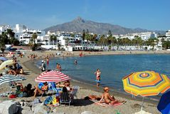 Puerto Banus beach, Marbella. Stock Images