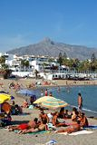 Puerto Banus beach, Marbella. Stock Photos