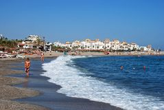 Puerto Banus beach, Marbella. Royalty Free Stock Images