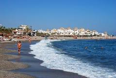 Puerto Banus beach, Marbella. Royalty Free Stock Images