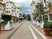 Puerto Banus colored pedestrian way Stock Photography