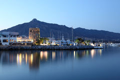 Puerto Banus at dusk, Spain Stock Photography