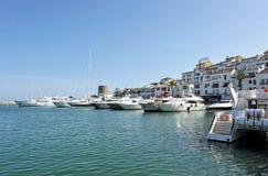 Puerto Banus em Marbella, Costa del Sol, Espanha fotos de stock