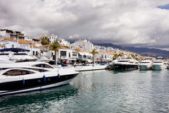 Puerto Banus em Spain Fotografia de Stock Royalty Free