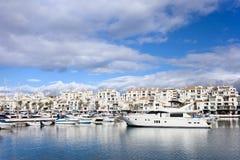 Puerto Banus en España Imágenes de archivo libres de regalías