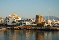 Puerto Banus en Marbella España Imagen de archivo