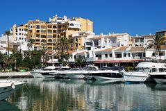 Puerto Banus harbour. Royalty Free Stock Photography