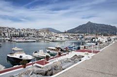 Puerto Banus Jachthafen, Costa Del Sol, Spanien lizenzfreie stockfotos