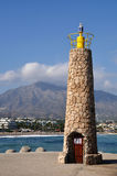 Puerto Banus lighthouse Royalty Free Stock Image