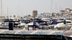 PUERTO BANUS-Marbella-Andalusia-Spanien-Europa arkivfoton