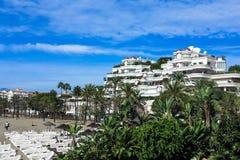 Puerto Banus in Marbella, Andalusien, Spanien. Puerto Banus in Marbella, Costa del Sol, Southern Andalucia, Spain royalty free stock photography