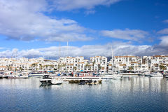 Puerto Banus Marina on Costa del Sol Stock Photography