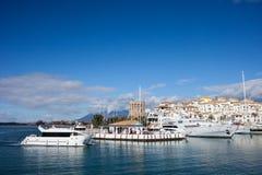 Puerto Banus Marina on Costa del Sol in Spain Stock Image