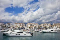 Puerto Banus Marina in Marbella Spain Stock Image