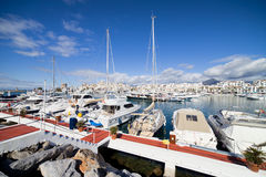 Puerto Banus Marina in Spain Royalty Free Stock Image