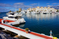 Puerto Banus Marina in Spain Royalty Free Stock Photo