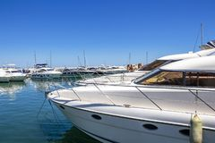 Puerto Banus, Nueva Andalusien, Marbella, Spanien lizenzfreie stockfotos
