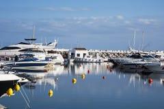 Puerto Banus schronienie w Marbella, Hiszpania Obraz Royalty Free